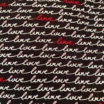 Love Script on Black