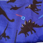 Dinosaurs on blue